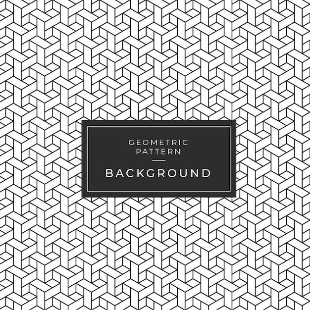 Motif abstrait monochrome géométrique Vecteur Premium