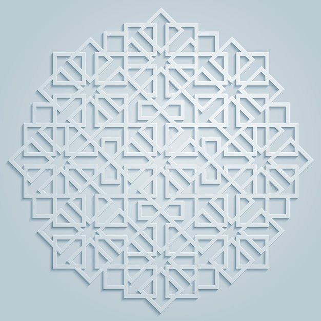 Motif Arabe Géométrique De Vecteur Vecteur Premium