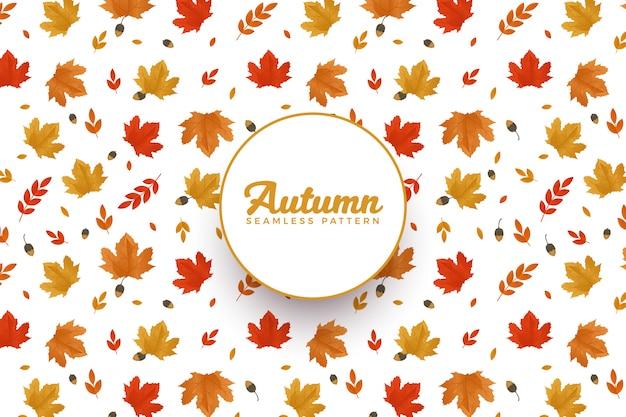 Motif d'automne Vecteur Premium