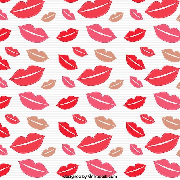 Motif baisers Vecteur gratuit