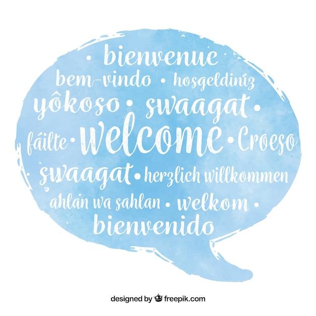 Motif De Bienvenue Dans Différentes Langues Vecteur gratuit