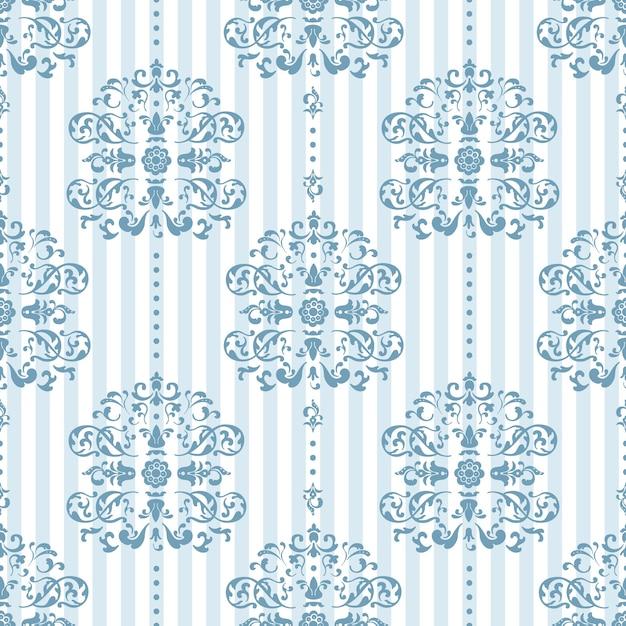 Motif Bleu Royal Et Blanc Vecteur gratuit