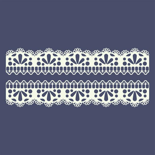 Motif de bordure en dentelle pour la mode boutique Vecteur Premium