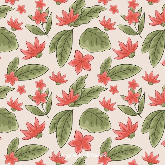 Motif botanique vintage Vecteur gratuit
