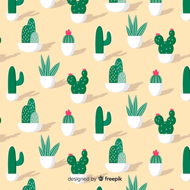 Motif de cactus Vecteur gratuit