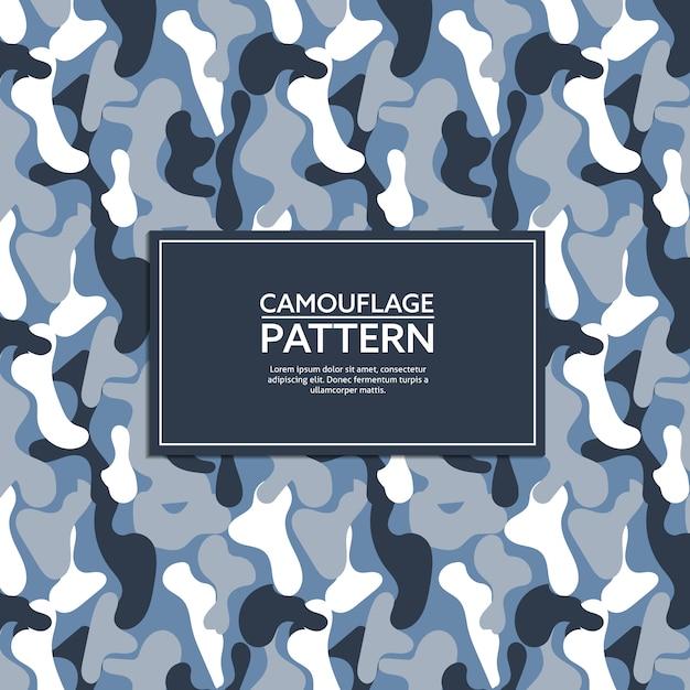 Motif de camouflage bleu et gris Vecteur Premium