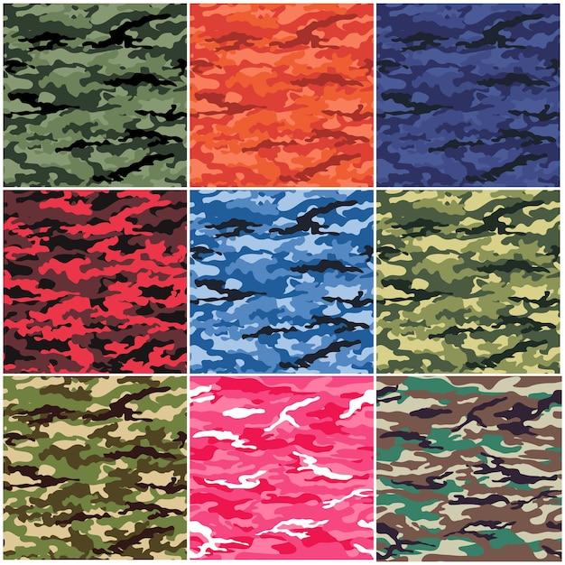 Motif de camouflage Vecteur Premium
