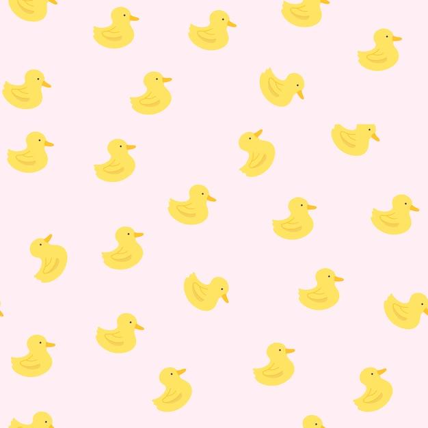 Motif canard en caoutchouc Vecteur gratuit