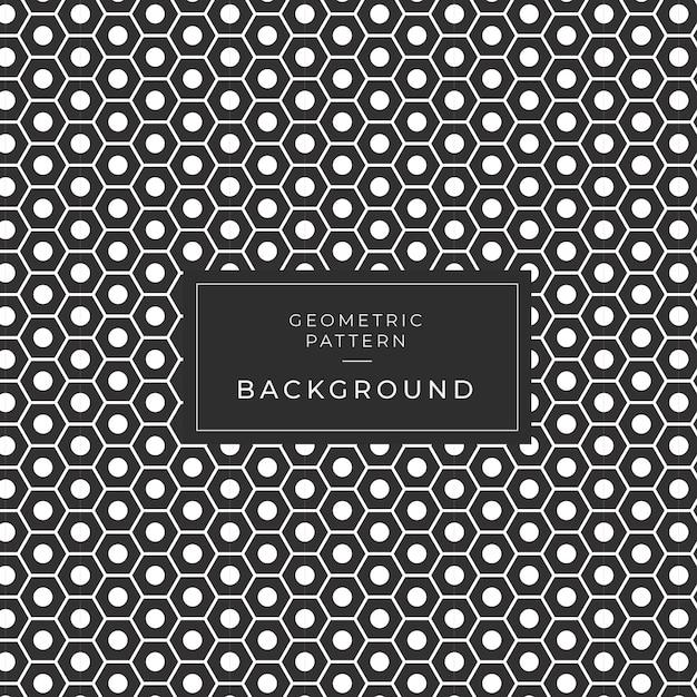 Motif de carreaux monochrome géométrique moderne pour le papier peint Vecteur Premium