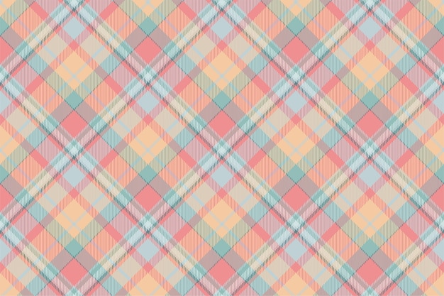 Motif à Carreaux Sans Soudure De Tartan Ecosse. Tissu De Fond Rétro. Texture Géométrique Carrée De Couleur Vintage Check Vecteur Premium