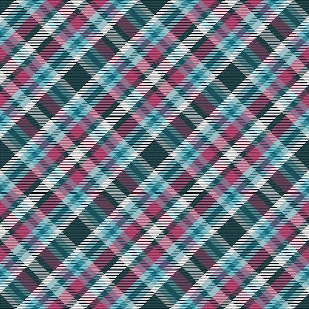 Motif à Carreaux Sans Soudure. Vérifiez La Texture Du Tissu. Fond Carré Rayé. Tartan De Conception Textile De Vecteur. Vecteur Premium