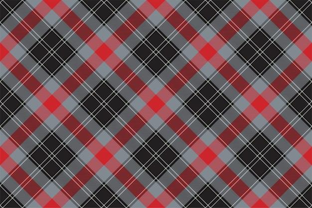 Motif à Carreaux Sans Soudure. Vérifiez La Texture Du Tissu. Fond Carré Rayé. Tartan Design Textile Vecteur Premium