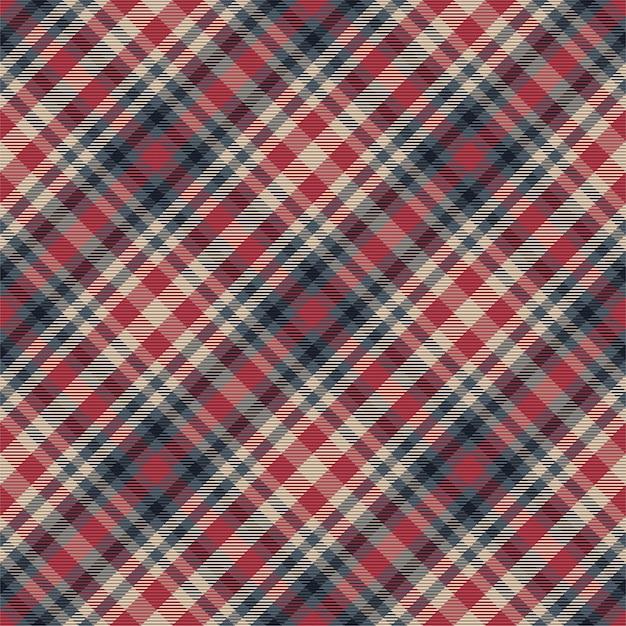 Motif à Carreaux Sans Soudure. Vérifiez La Texture Du Tissu. Fond Carré Rayé. Tartan Design Textile. Vecteur Premium