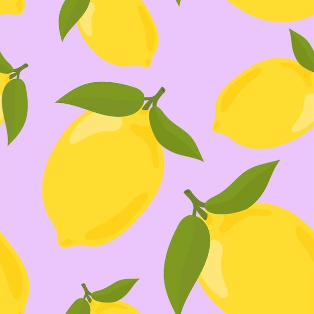 Motif de citron dessiné main coloré Vecteur gratuit