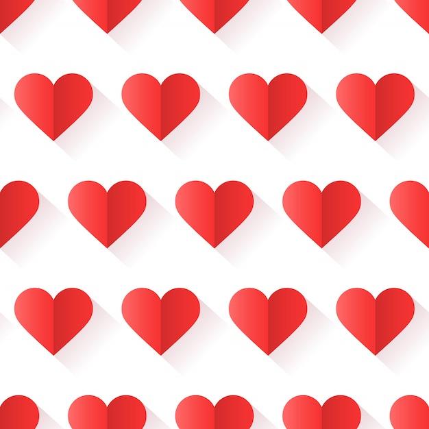 Motif De Coeur Avec Une Forme Créative Dans Un Style Géométrique. Vecteur Premium