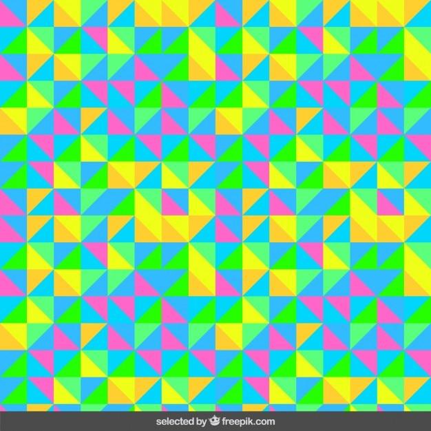 8e9f6da17bdcc4 Motif coloré à base de triangles   Télécharger des Vecteurs gratuitement