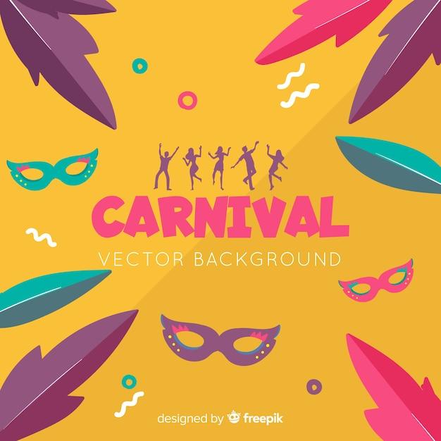 Motif coloré de carnaval Vecteur gratuit