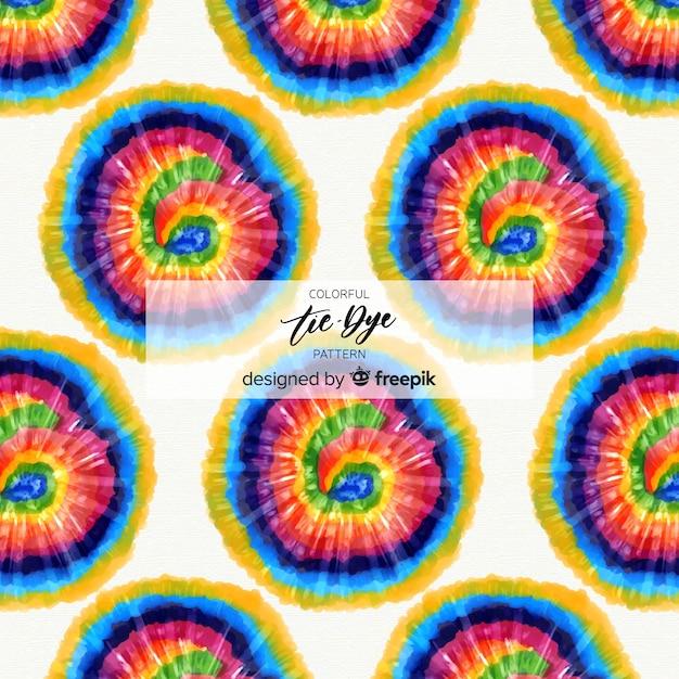 Motif coloré tie-dye Vecteur gratuit