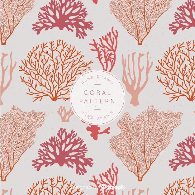 Motif corail Vecteur gratuit