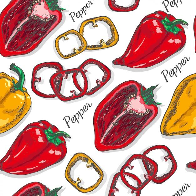 Motif de couleur transparente au poivre Vecteur Premium