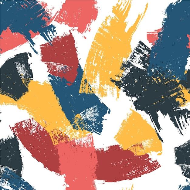 Motif De Coups De Pinceau Coloré Vecteur gratuit