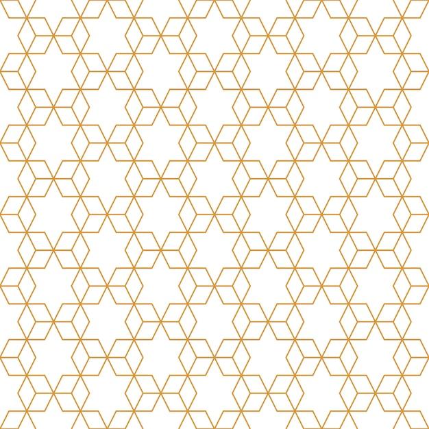 Motif cube géométrique abstraite transparente avec ligne de luxe or et fond blanc. Vecteur Premium