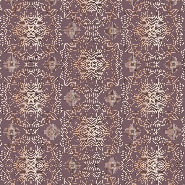 Motif décoratif de mandala Vecteur gratuit