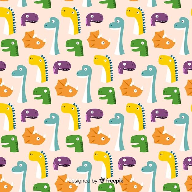 Motif de dinosaure plat Vecteur gratuit