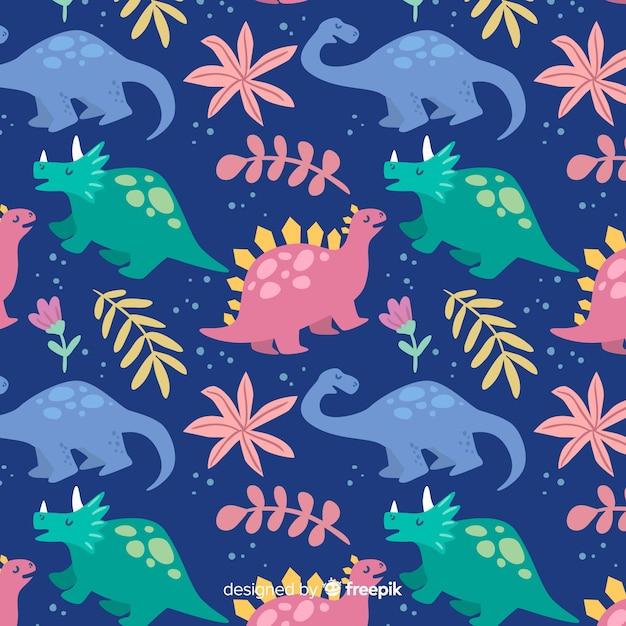 Motif de dinosaures Vecteur gratuit