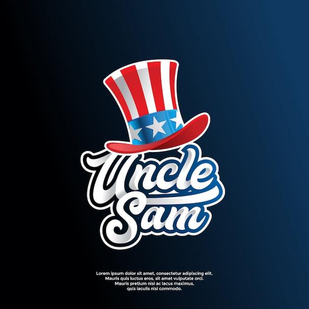 Motif De Drapeau Des états-unis Moderne Sur Le Modèle De Logo De Chapeau Vecteur Premium