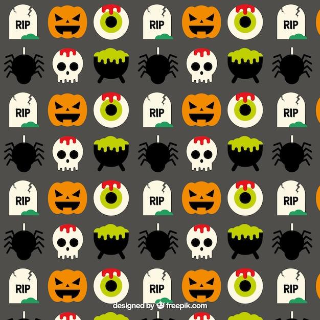 Motif dr le de halloween t l charger des vecteurs premium - Image halloween drole ...