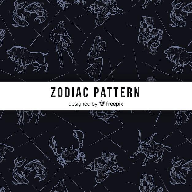 Motif du zodiaque Vecteur gratuit