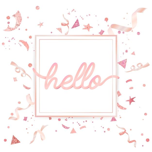 Motif festif de confettis rose pâle Vecteur gratuit
