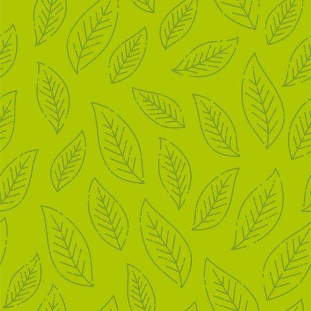 Motif De Feuilles Vertes Stylisées Sans Soudure. Vecteur Premium