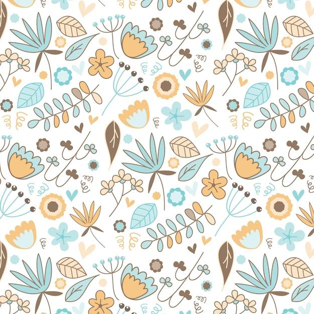 Motif fleur bleue t l charger des vecteurs gratuitement - Deco printempsidees avec fleurs et motif floral ...