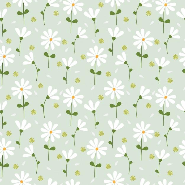 Motif de fleurs de printemps mignons sans soudure Vecteur Premium