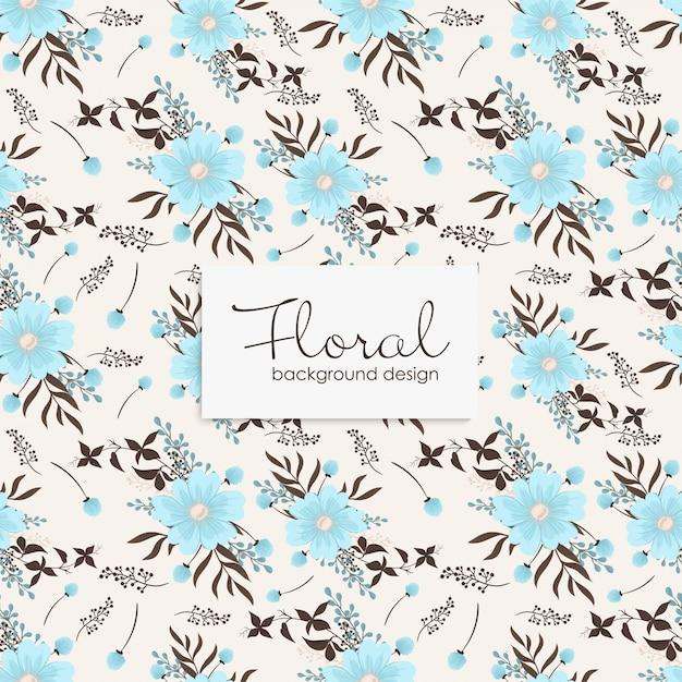 Motif floral avec des baies. Vecteur gratuit