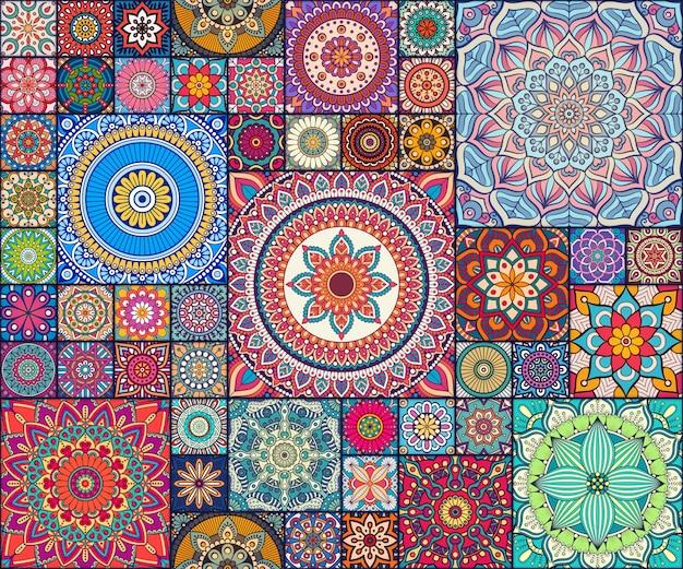 Motif Floral Décoratif Ethnique Motif Décoratif Abstrait Vecteur gratuit