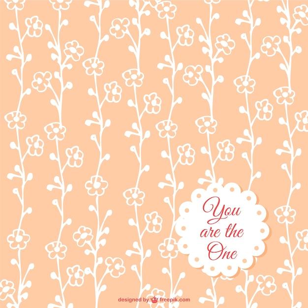 Motif floral libre Vecteur gratuit