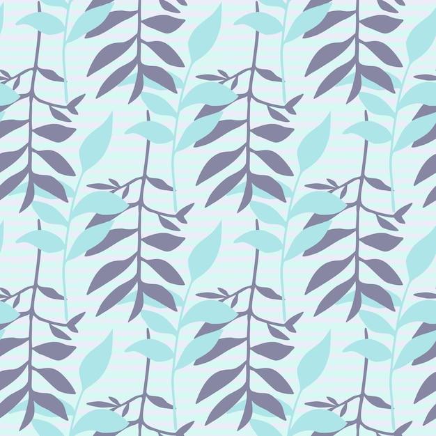 Motif Floral Minimaliste De Seamles Avec Ornement De Feuillage. Vecteur Premium