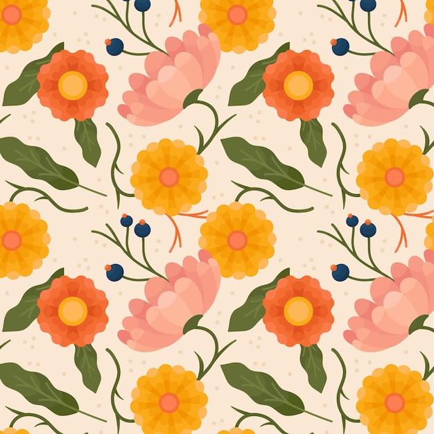 Motif Floral Pastel Vecteur gratuit