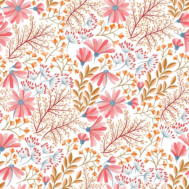 Motif floral de printemps Vecteur Premium
