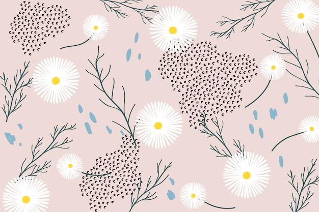 Motif Floral Rétro Vecteur gratuit