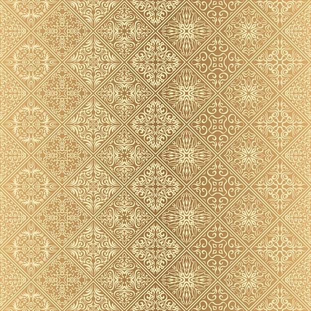 Motif Floral Sans Soudure De Fond D Ecran Royal Fond De Luxe Vecteur Premium