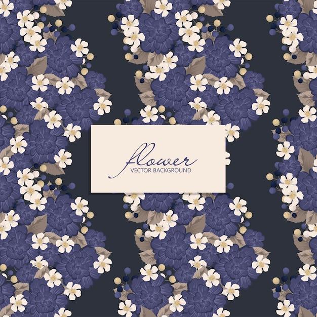Motif Floral Violet Vecteur gratuit