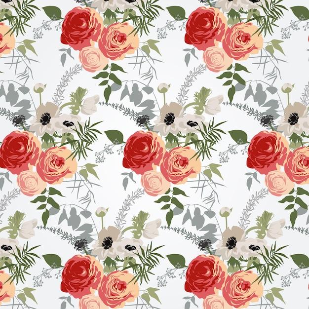 motif floral t l charger des vecteurs gratuitement. Black Bedroom Furniture Sets. Home Design Ideas