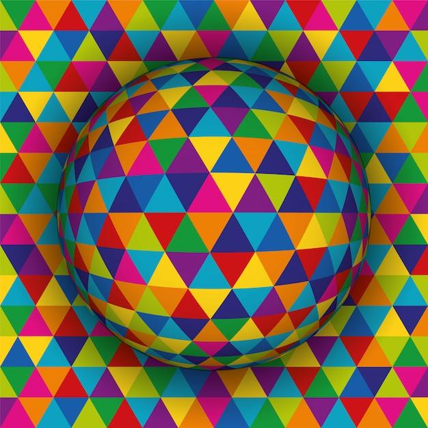 Motif de fond 3d sphérique coloré. Vecteur Premium