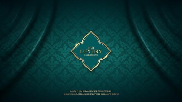 Motif De Fond De Luxe D'art Thaïlandais Pour La Décoration Vecteur Premium