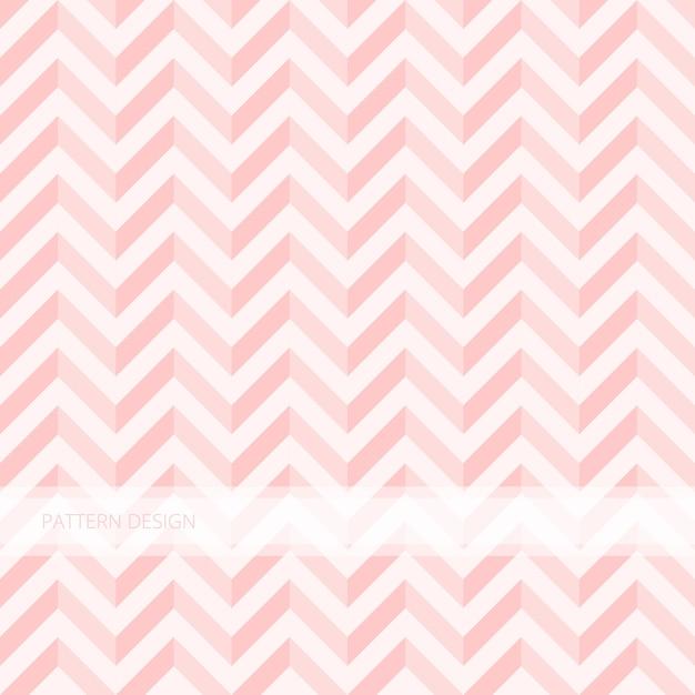 Motif de fond sans couture moderne abstrait rose doux zigzag vector design. Vecteur Premium