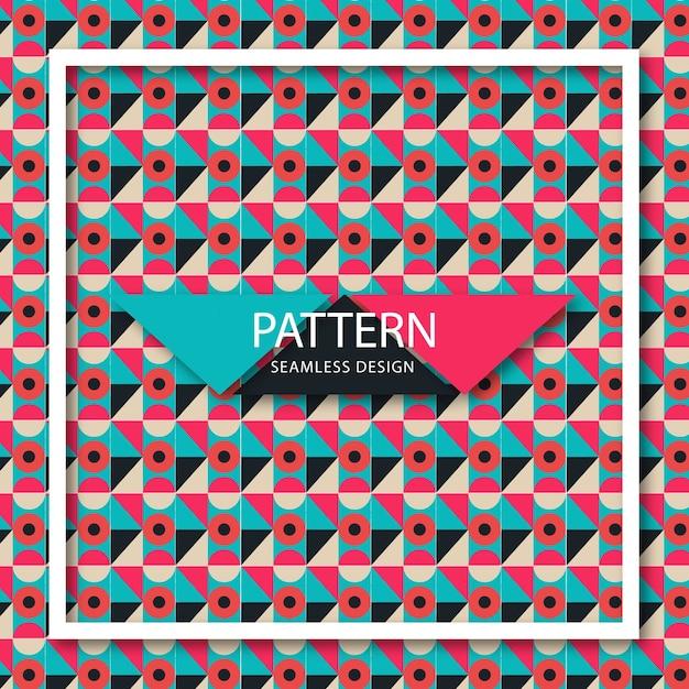 Motif de formes colorées géométriques Vecteur Premium